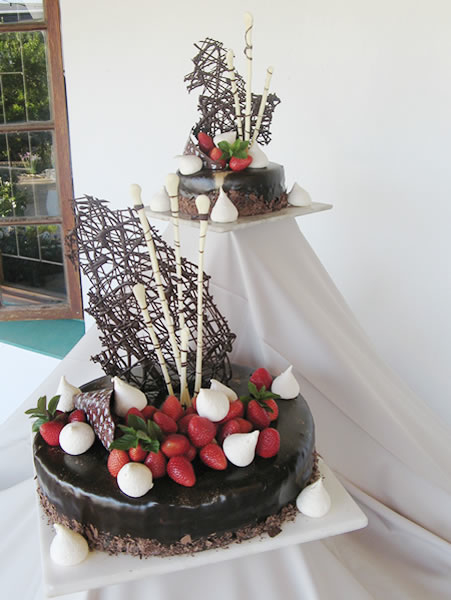 Chocolate Mousse Wedding Cake Cape Town