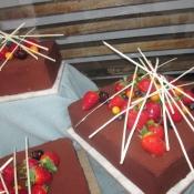 Rich chocolate berry gateaux